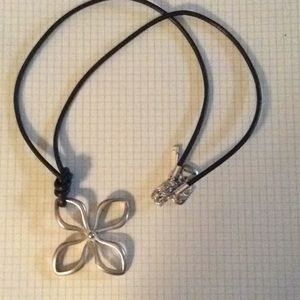 Fossil flower necklace